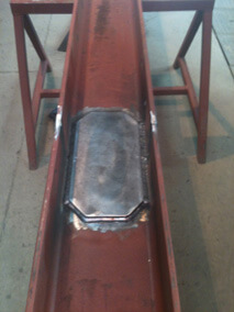 Red Steel Beam Plate