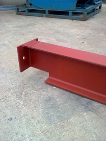 Red Steel Beam