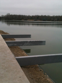 Steel Beams Over Water